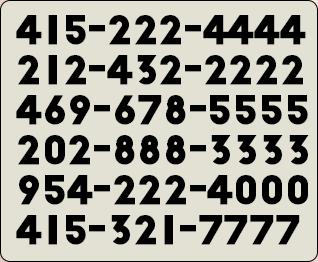 vanity repeating numbers